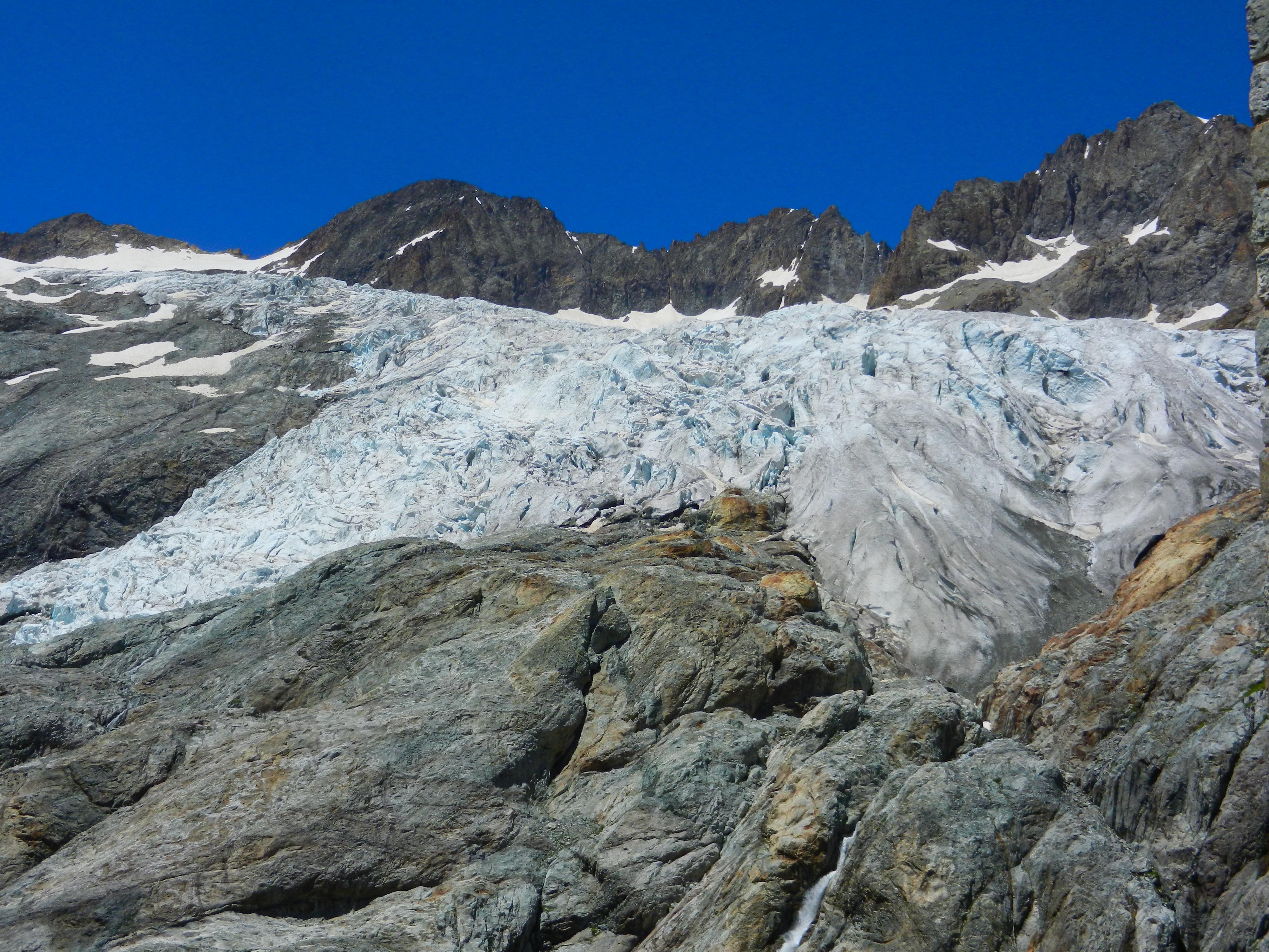 Morena terminale del Glacier Blanc