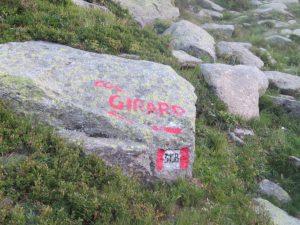 Indicazione per la punta Girard su masso