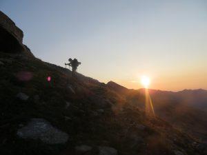 Marco Blatto con il primo sole
